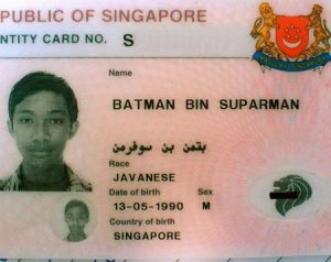 batman id card