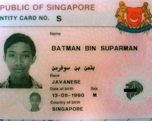 batman id card