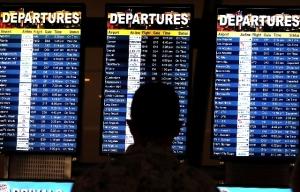 airport departures sign