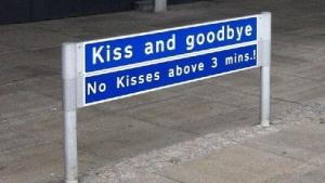 kiss and goodbye