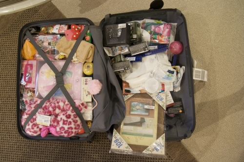 messy suitcase
