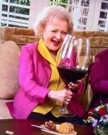 large glass of wine