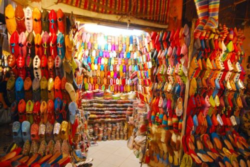 shoes in souk