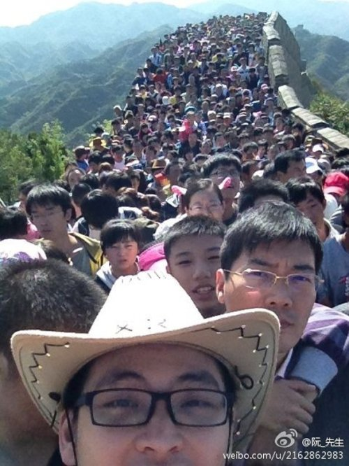 great wall of china selfie