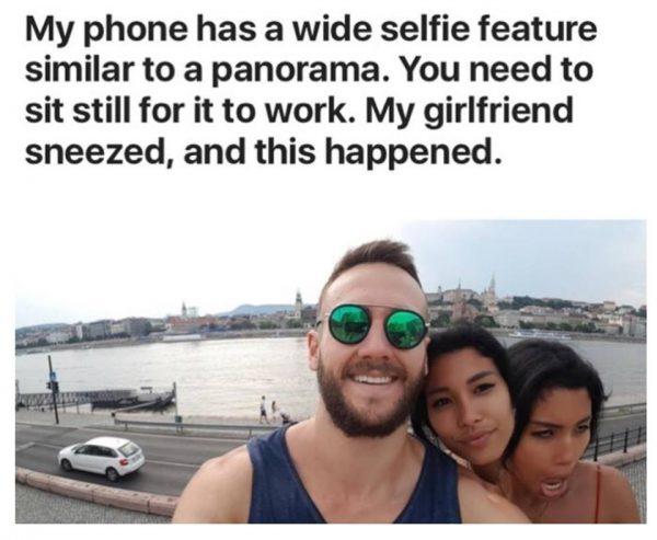 selfie sneeze